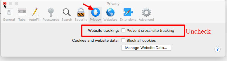 Prevent Cross-Site Tracking in Mac